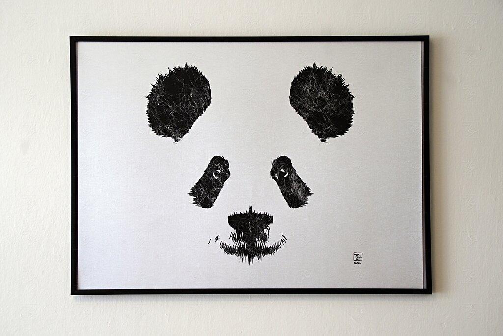 Panda II - on metalic paper